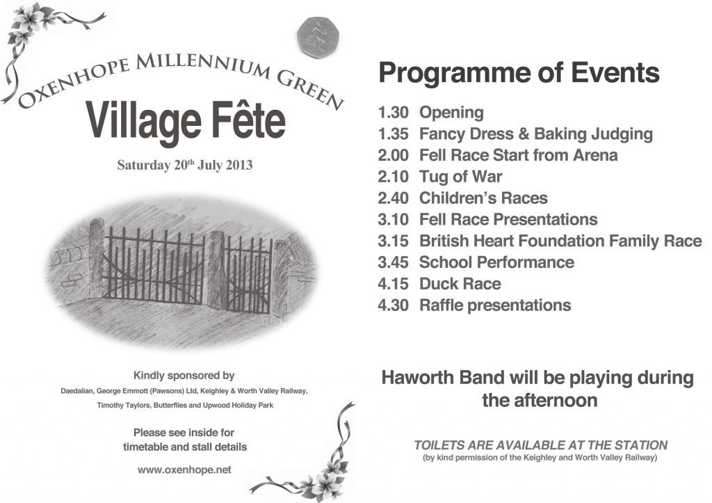 Fete Programme 2013