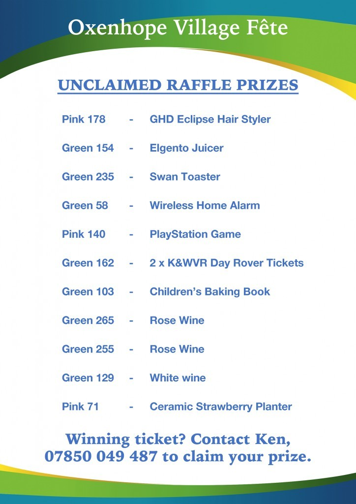 Unclaimed Prizes